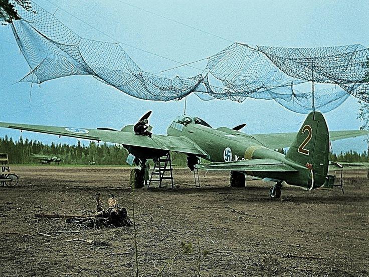 Ju 88A in Ilmavoimat service .