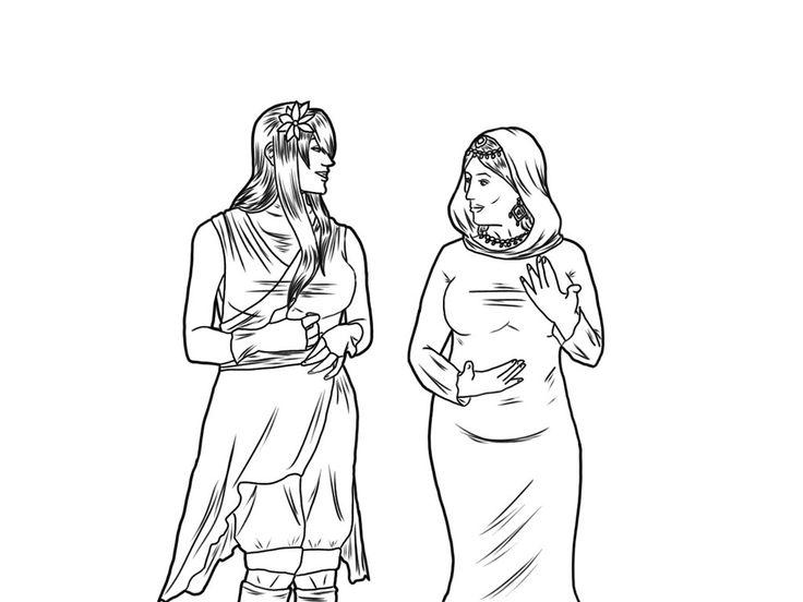 Lineart: Lucy and Medina  by HannaEsser.deviantart.com on @DeviantArt