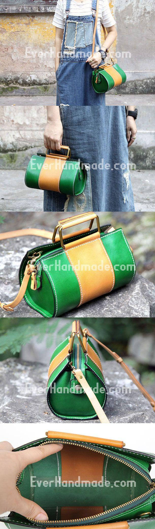 Handmade handbag cute purse leather crossbody bag shoulder bag women