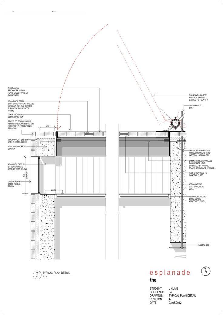 High Rise 2012 - brick facade plan detail