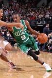 Boston Celtics v Portland Trail Blazers, Portland, OR - January 27: Andre Miller and Rajon Rondo Photographic Print by Sam Forencich
