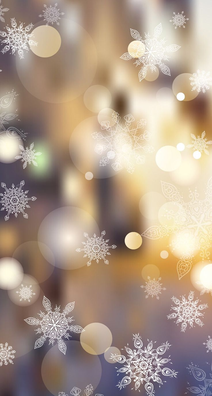 Wallpaper iPhone #winter#snowflakes⚪️
