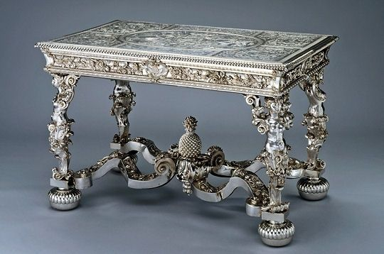 Solid Silver Table made for King Louis XIV.