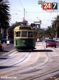 The old Melbourne Tram... A great way to get around the city - Melbourne, Vic. Australia
