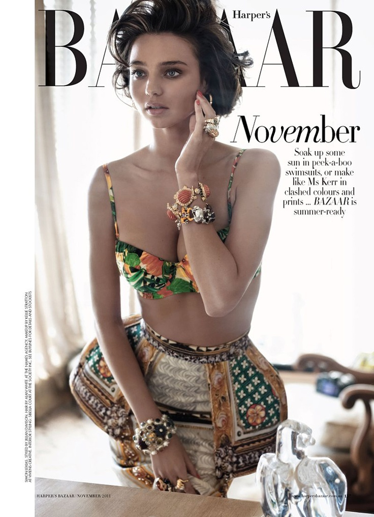 Coco Rocha in Chanel for Harpers Bazaar Australia April