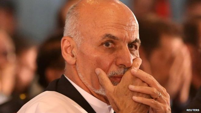 """Ashraf Ghani prepares for a speech after emerging as Afghanistan""""s president-elect this month"""