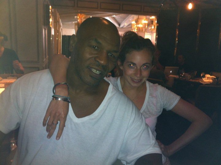 Wearing a Kitson white t-shirt with my bestest Mike