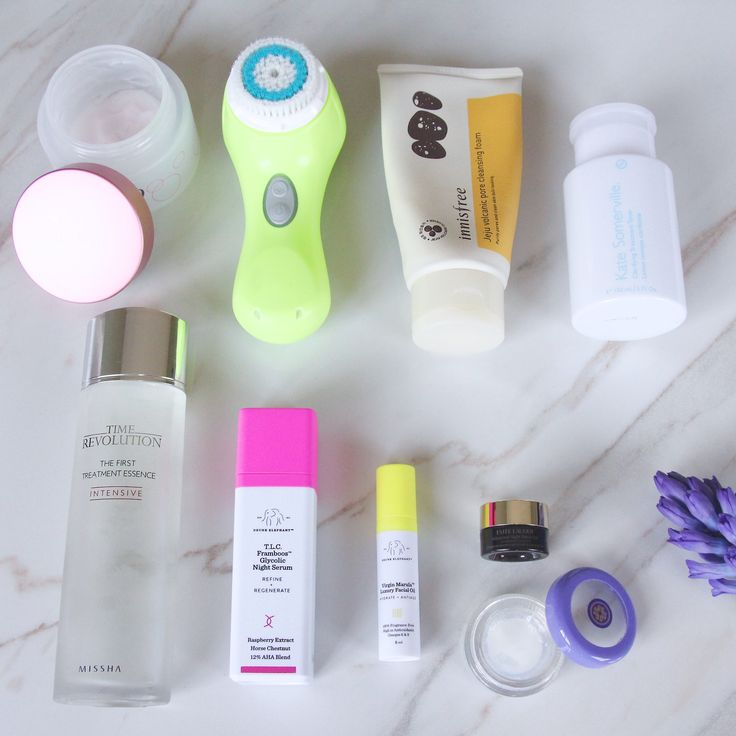 Nighttime Skin Care Routine for sensitive, oily, acne prone skin