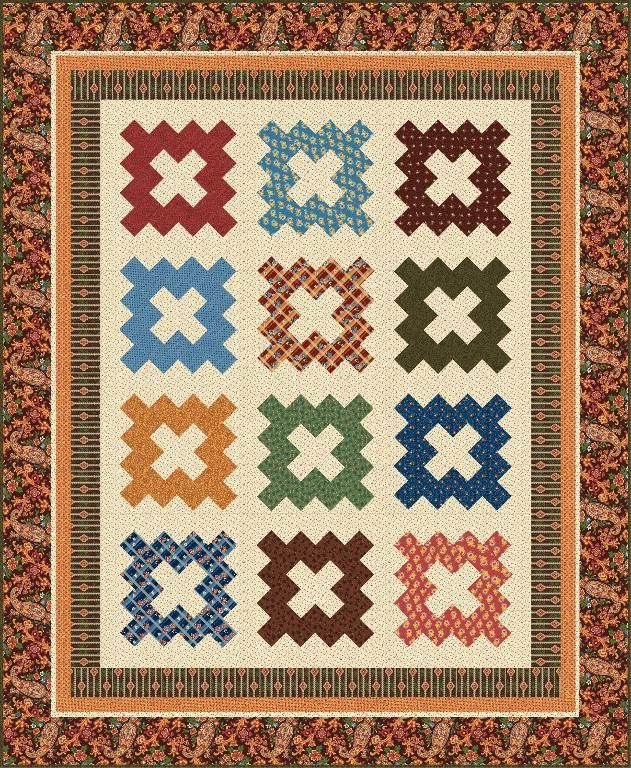 Charleston 1850 Quilt.  This is a great group project quilt that I'd like to make with my girls.
