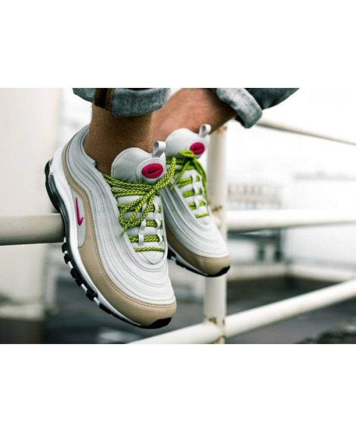 f59a89e2bb3 Nike Wmns Air Max 97 Light Bone Deadly Pink Mushroom Trainers ...