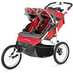 Schwinn Arrow Double Jogging Stroller, Red/Black