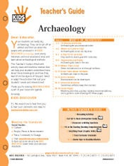 FREE, 12-Page Downloadable Lesson Plan for Kids Discover Archaeology!