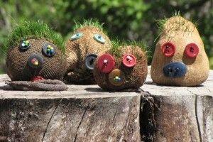 Des créatures aux cheveux verts