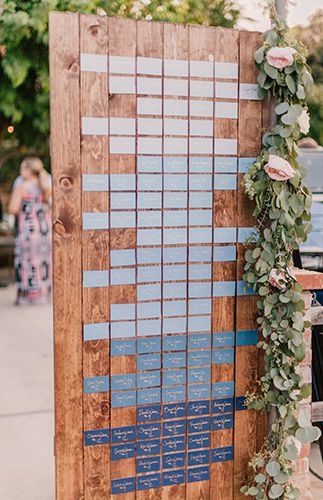 Ombre Table Plan | Beautiful Pink and Blue Ranch Wedding - Inspired By This