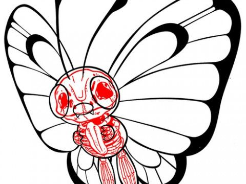 012 BUTTERFREE Pokemon Xray