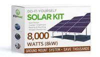 8060 Watt (8kW) Solar Panel Ground Mount Installation Kit