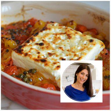 Φέτα φούρνου με σκόρδο, κάπαρη και τοματίνια - Συνταγές - Tlife.gr