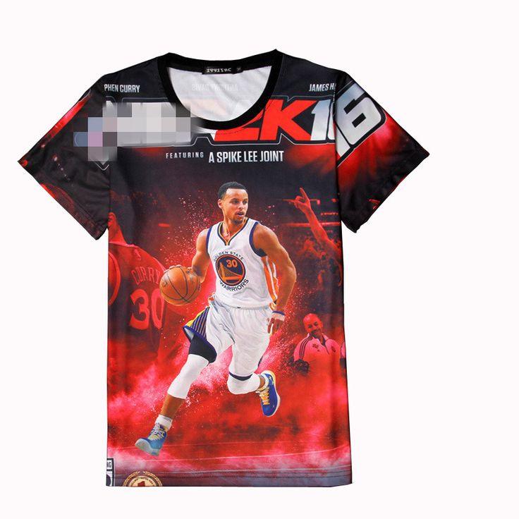 Stephen Curry Jersey 3d Tee Shirt Homme Basketball Superstars Kyrie Irving Paul George Lebron Fashion Tshirt Men T-shirt Hip Hop