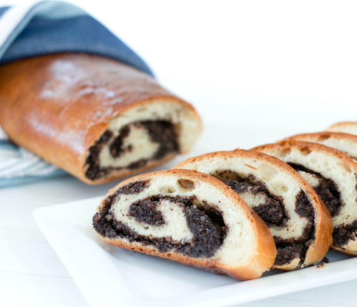 Traditional Russian poppy seeds roll