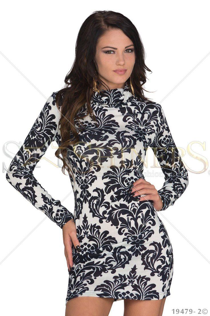 Hot Print White Dress