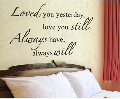 Ill always love you wall decal