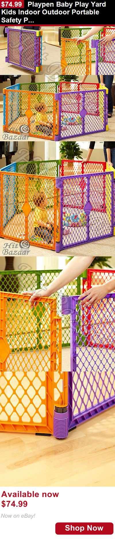 Baby Play pens and play yards: Playpen Baby Play Yard Kids Indoor Outdoor Portable Safety Playard Gate Game Pen BUY IT NOW ONLY: $74.99