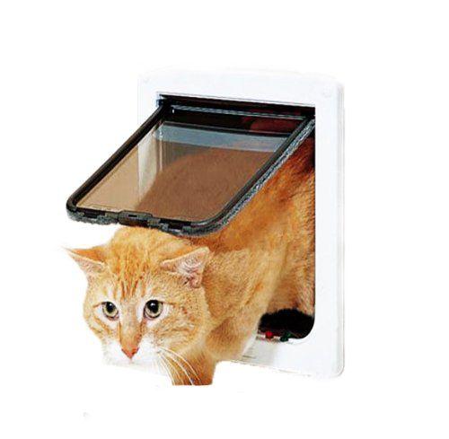 Enjoying 4 Way Cat Puppy Doggy Glass Door Pet Screen Door Protector White * Click image to read more details. #CatDoorsStepsNetsPens