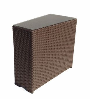 Outdoor Wicker Wedge End Table - Sonoma