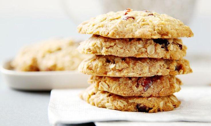 Celozrnné sušenky s brusinkami a ořechy