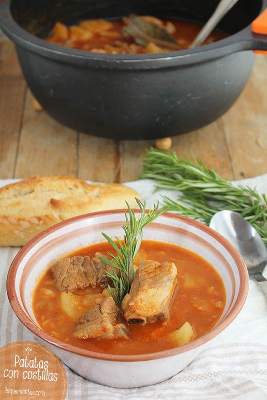 Patatas con costillas, un plato tradicional