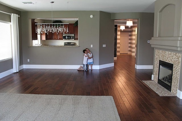Love this wall color with the dark wood floors for the for Wood floor paint colors