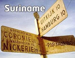 Suriname bord richting ...