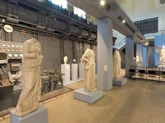 Het oude Rome in een elektriciteitscentrale