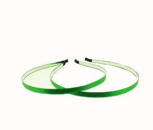 """5mm (3/16"""") Satin Lined Metal Headband in EMERALD - 1 Piece by Trimweaver. $1.99. 5mm (3/16"""") Satin Lined Metal Headband in EMERALD - 1 Piece. Pre-Finished 5mm Metal headbands lined with satin ribbon. EMERALD. 1 Piece. Dimensions: 5mm (3/16"""") wideStyle: 5mm (3/16"""") Satin Lined Metal HeadbandColor: EMERALD1 Package contains: 1 Piece These pre-finished high quality satin lined metal headbands are great for making hair accessories.Slight differences between real and perceived c..."""