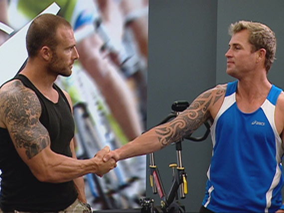 The Biggest Loser The Commando shakes hands with Shannan