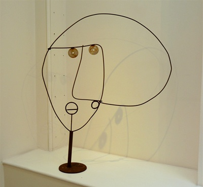 Howard Smith - 6. (HS014) A Face, 2002, welded iron, h. 97 cm, w. 77 cm
