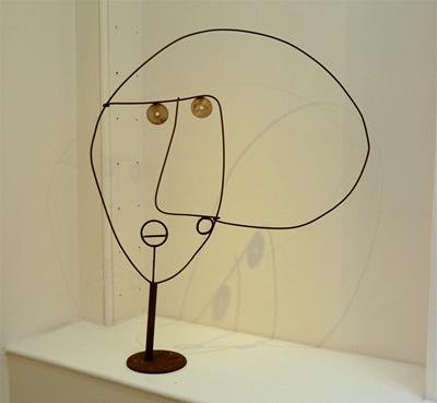 Howard Smith - 6. (HS014) A Face, 2002, welded iron, h. 97 cm, w. 77 cm