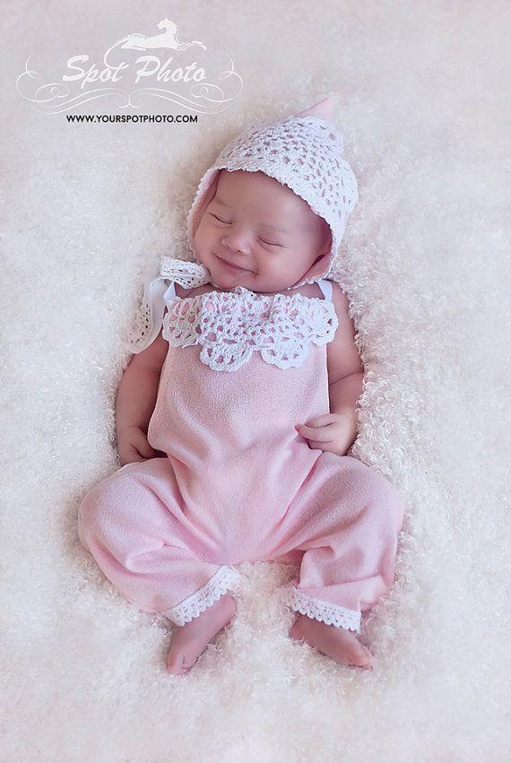 Newborn romper set Baby romper Baby girl by LeopardontheHOOK