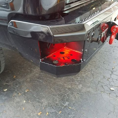 Led Lit Side Step Detail And Red Accents On Michaels Truck