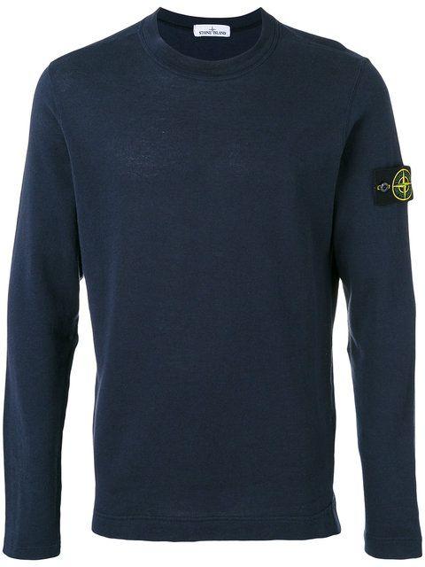 STONE ISLAND Embroidered Logo Sweatshirt. #stoneisland #cloth #sweatshirt