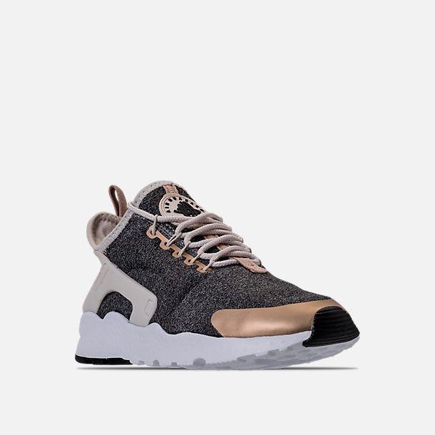 463f3a3784486 Three Quarter view of Women s Nike Air Huarache Run Ultra Casual Shoes in Light  Orewood Brown Blur