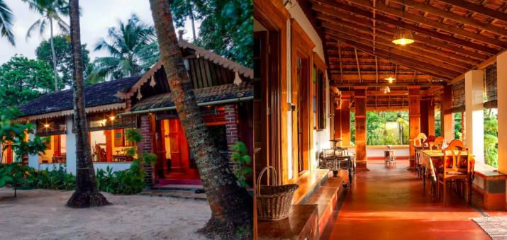 Price per night: ₹2,983 per night.Accommodates: 2 guests• A secluded heritage home, Sea Hut has four independent double bedrooms and a common verandah. • Guests are served freshly prepared Kerala cuisine for lunch and dinner.