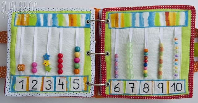 quiet book counting page