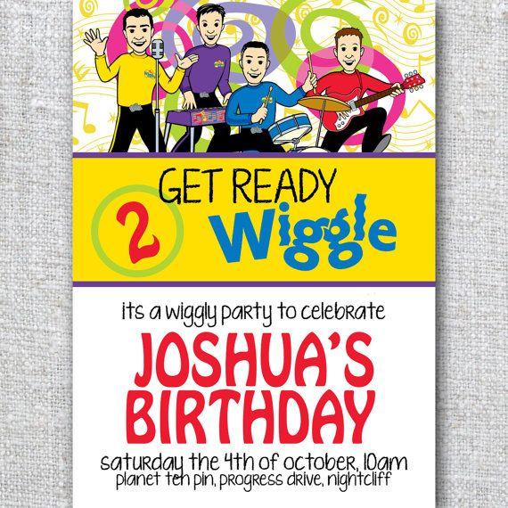 Birthday Invitation WIGGLES - Modern, Contemporary Kids birthday Invitation - Printable, Digital