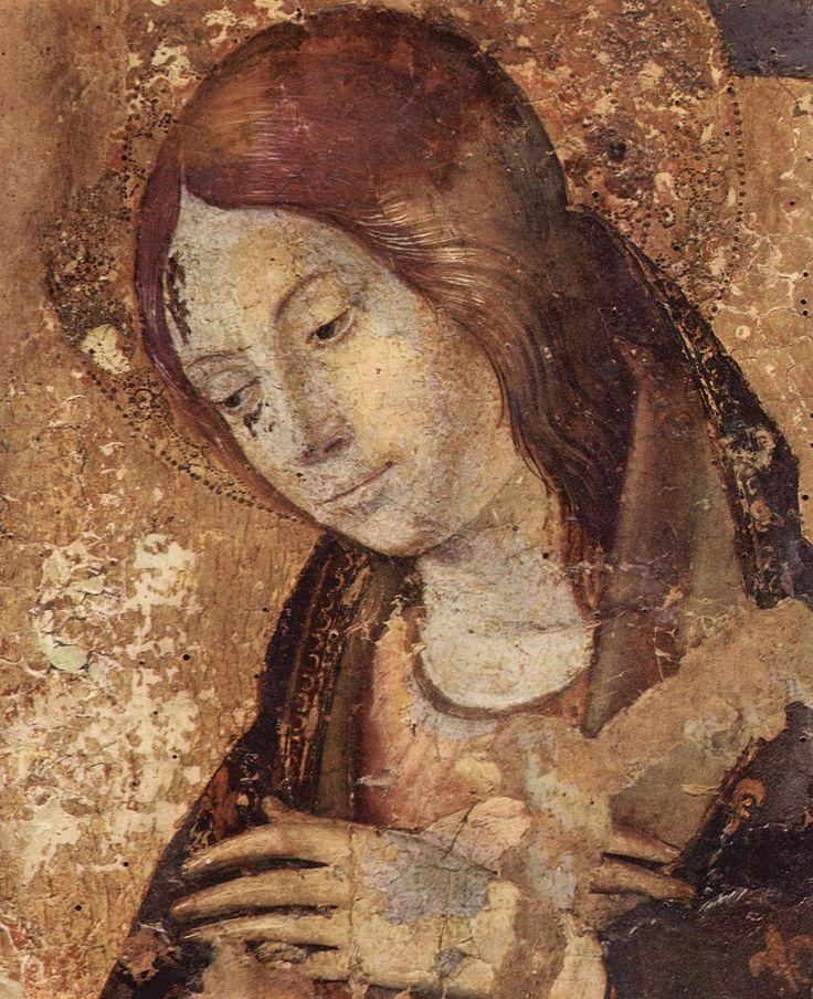 Antonello da Messina, Madonna in trono col Bambino, San Gregorio e San Benedetto, Pannello centrale, particolare