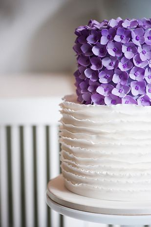 forty-four lovely purple details for a wedding.