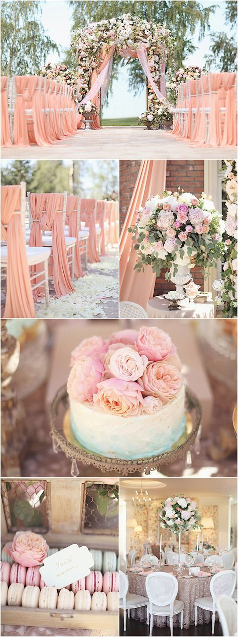 Featured Photographer: Sonya Khegay; blush and pink wedding ceremony and reception details