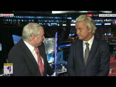 PVV: Geert Wilders MP At RNC 2016 - I Agree With Donald Trump On Banning Muslims - YouTube