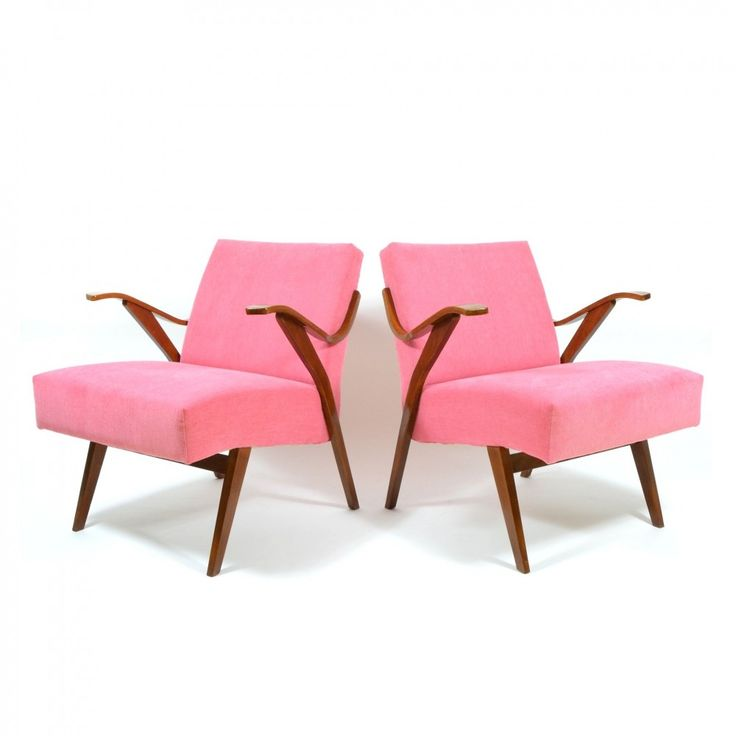 For sale: Set of vintage pink armchairs by Mier Topolcany ...