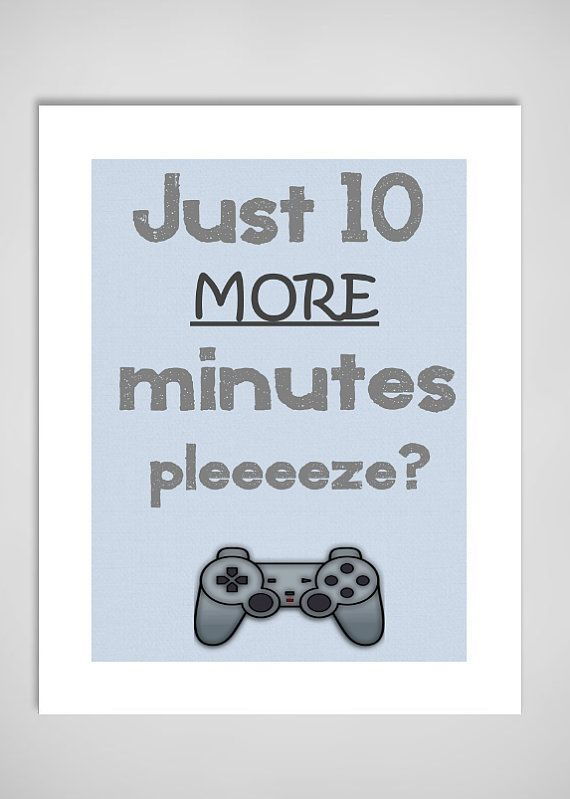 Boys Room Playstation Art Print - Game Controller Artwork - Perfect for boy bedroom decor on Etsy, $20.00